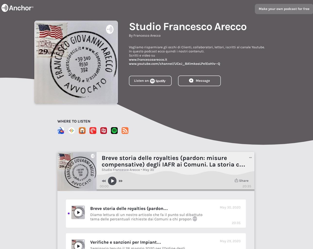 il podcast di Studio Francesco Arecco